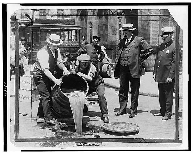 This photo shows the removal of liquor during the prohibition period. The Churchill County Museum opens a new exhibition Saturday that explores this time in the United States.