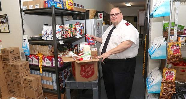 Capt. Mark Cyr and the Salvation Army will be busy during the holidays.