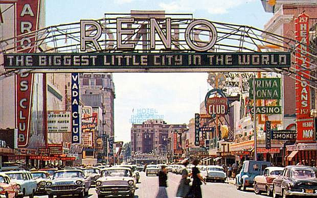 Reno bustles in the late 1950s, early 1960s.