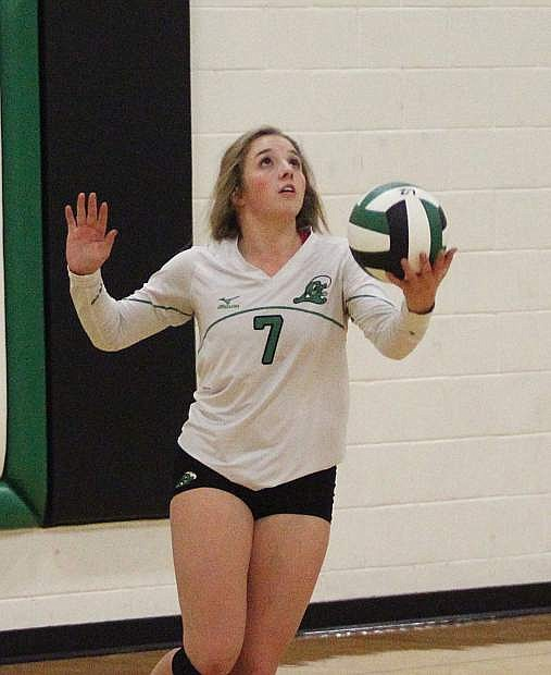 Shelbi Schultz was named to the Northern 3A volleyball honorable mention.