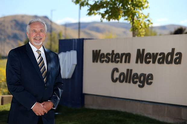 Mark Ghan, vice president of administrative and legal services, is Officer in Charge at Western Nevada College in Carson City, Nev., seen on Thursday, Sept. 28, 2017. Photo by Cathleen Allison/Nevada Momentum