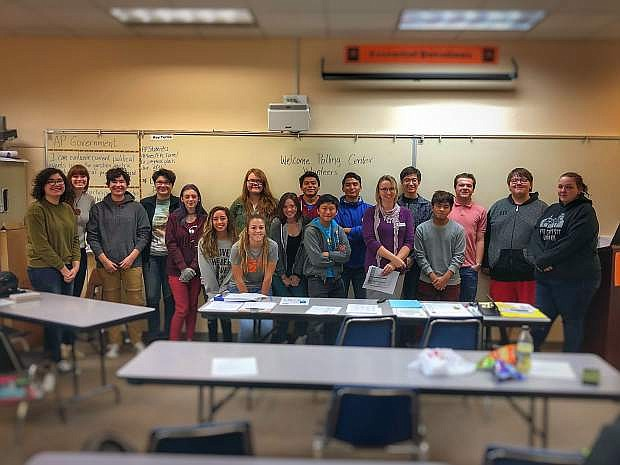 Carson High School students will volunteer at the polls on Nov. 6 for Election Day, and they recently heard from Carson City County deputy clerk Aubrey Rowlatt in preparation for their work.