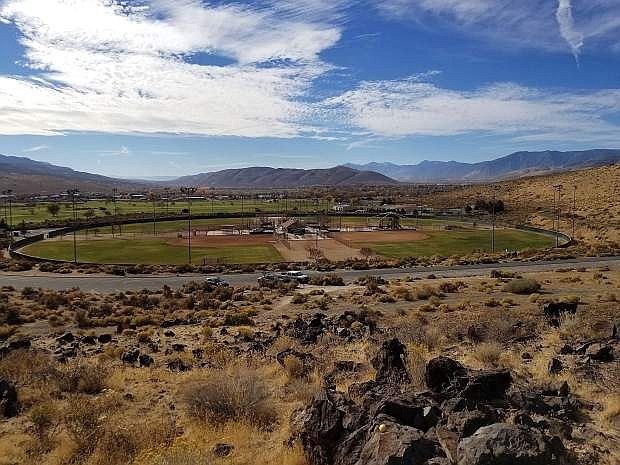 A view of Centennial Park and Carson City from halfway up the Wild Horse Trail.