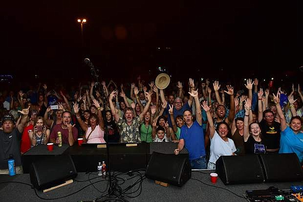 The Carson CIty crowd poses for a picture after The Original Wailers' show last year.