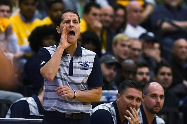 Eric Musselman during the first half against Loyola-Chicago on Nov. 27.