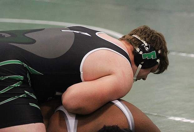 Ben Dooley (285 pounds) captured Fallon's third state title in wrestling in February.