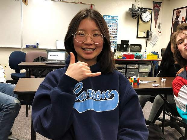 CHS Student of the Week is Neen Nattanan Hongakkraphan, a foreign exchange student from Thailand.