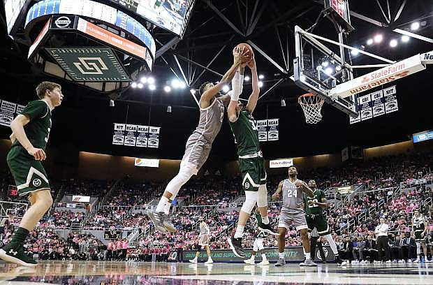 Nevada's Tre'Shawn Thurman goes for the rebound against Colorado State on Wednesday.