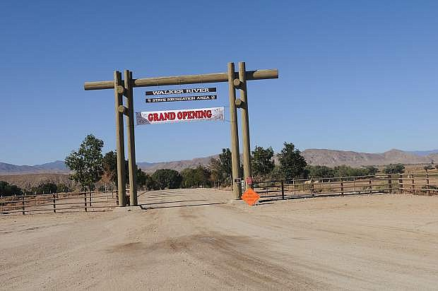 The grand opening for Walker River State Recreation Area was held in the fall.