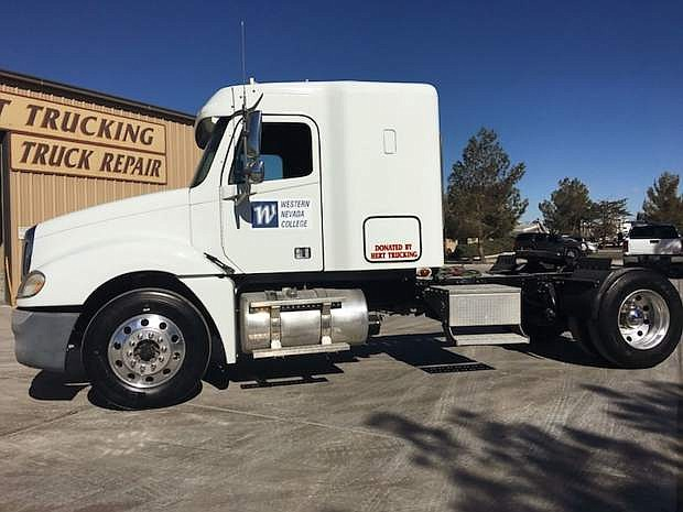 Hert semi donated to WNC for CDL class.