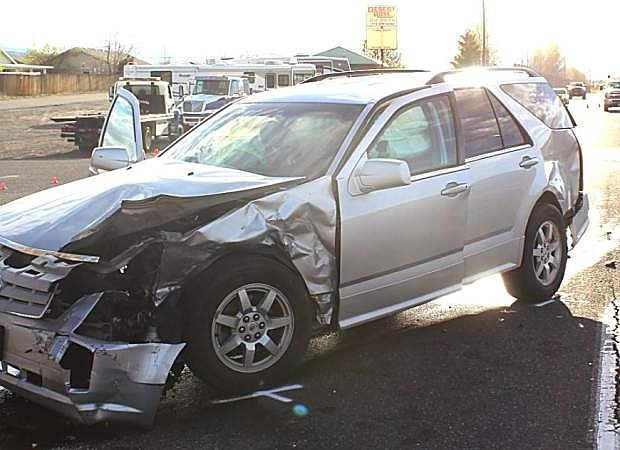 A Fallon resident died Friday afternoon as a result of a two-car crash on U.S. Highway 50 Alternate east of Fernley.