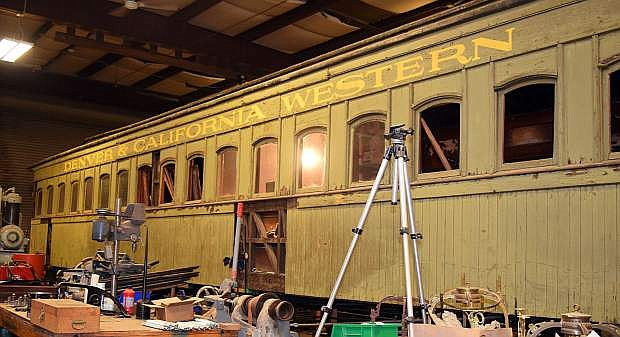 Coach 17 is the oldest piece of rolling stock in the collection at the Nevada State Railroad Museum in Carson City.