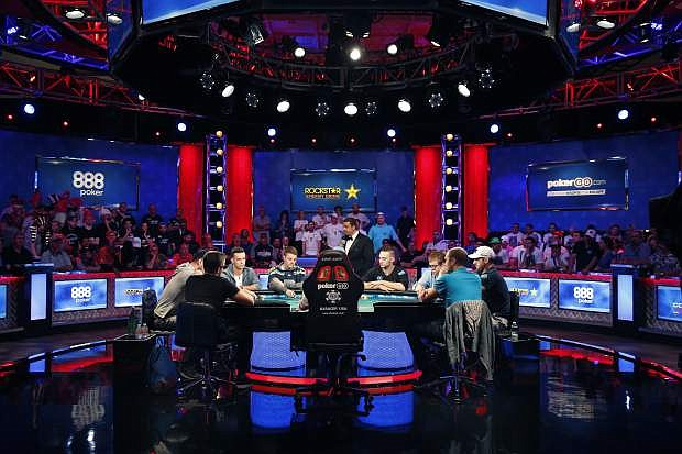 The final nine players compete at the final table during the World Series of Poker main event in Las Vegas on July 12, 2018. The 50th edition of World Series of Poker is kicking off in Las Vegas. The seven-week poker festival that opened Tuesday will feature 89 events with an expected combined prize pool of more than $200 million.