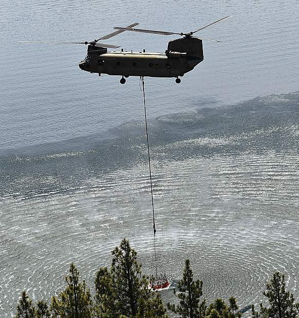 The Nevada Army National Guard held a firefightin demonstration on Friday.