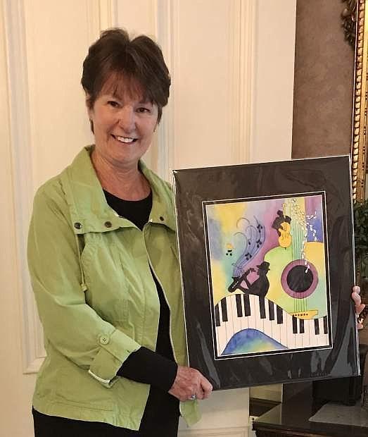 Reta Hanks was the winner of te The Jazz & Beyond festival  2019 poster and program cover art contest.