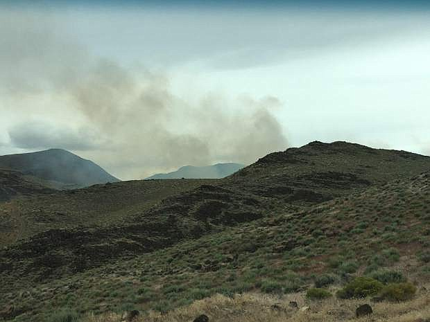 The Lyon County Fire Protection District was dispatched to U.S. 50 and Caroline Sunday for a reported brush fire. The cause is under investigation.
