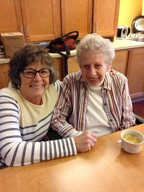 Carson City resident Barbara Singer with her mother, Eve.
