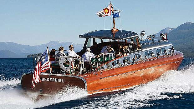 The Thunderbird roars across Lake Tahoe during a previous summer.