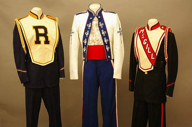 Vintage Nevada school band uniforms from McGill, Ruth and Carson City will be on display as part of Smithsonian Museum Day on Saturday.