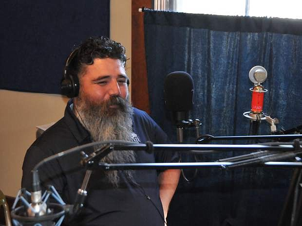 Vincent Rivera, the new Veterans Resource coordinator at Western Nevada College, is seen here recording for the Western Connection radio show on KNVC (95.1 FM).