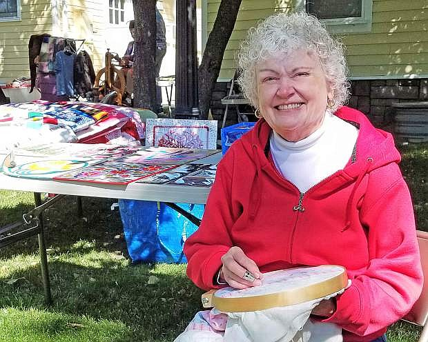 Quilter Maureen Cole recently showcased her quilting talents at the 50th Anniversary of the Nevada Historical Society at the Foreman-Roberts House.