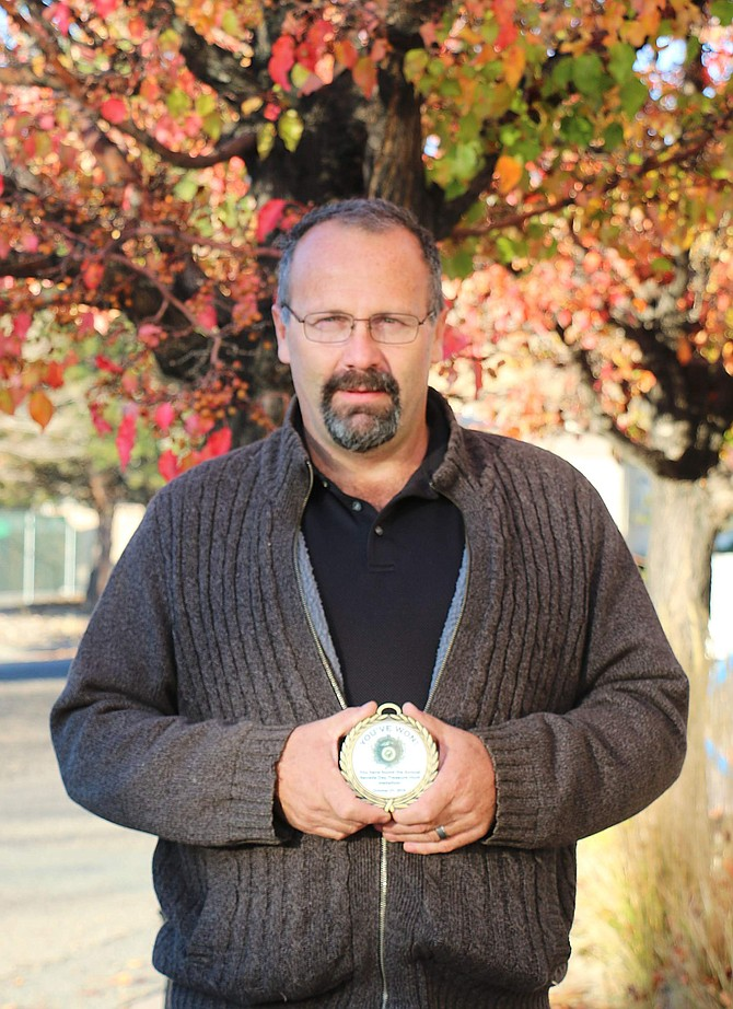 Chris Peternell of Carson City found the 2019 Nevada Day Treasure Hunt medallion.