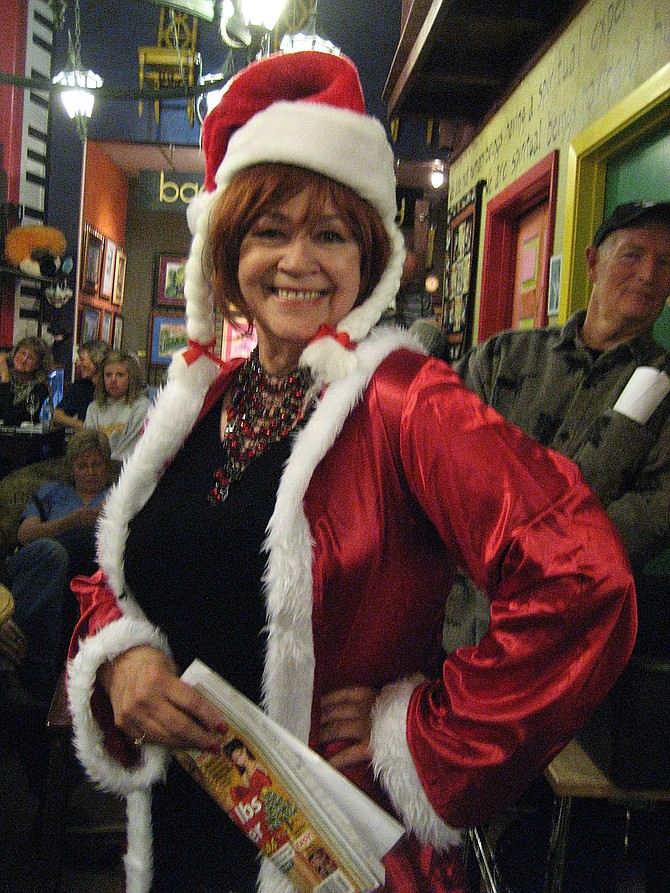 """Poet Rita Geil will perform in Mile High Jazz Band's """"Night Lights"""" Holiday Jazz and Poetry event on December 10."""