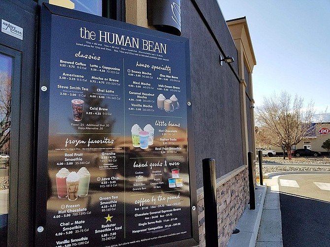 The Human Bean serves classic coffee and teas, house specialities and frozen drinks as well as baked goods including muffins and bagels.