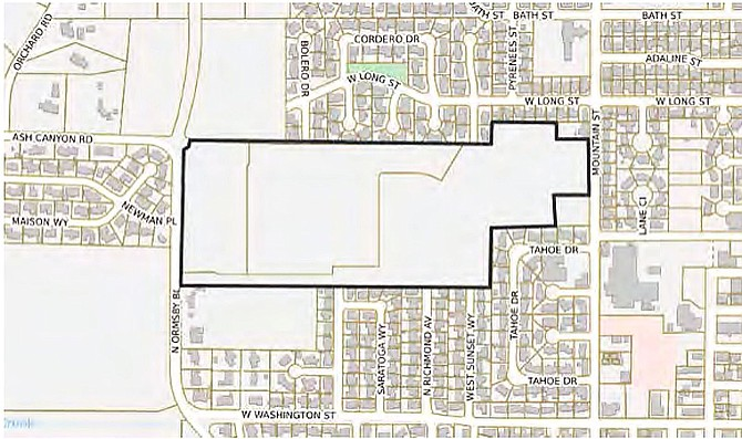 The area of proposed development.