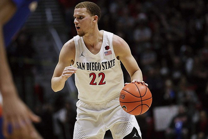 San Diego State guard Malachi Flynn had 19 points, six assists and three threes against Boise State on Saturday in San Diego.