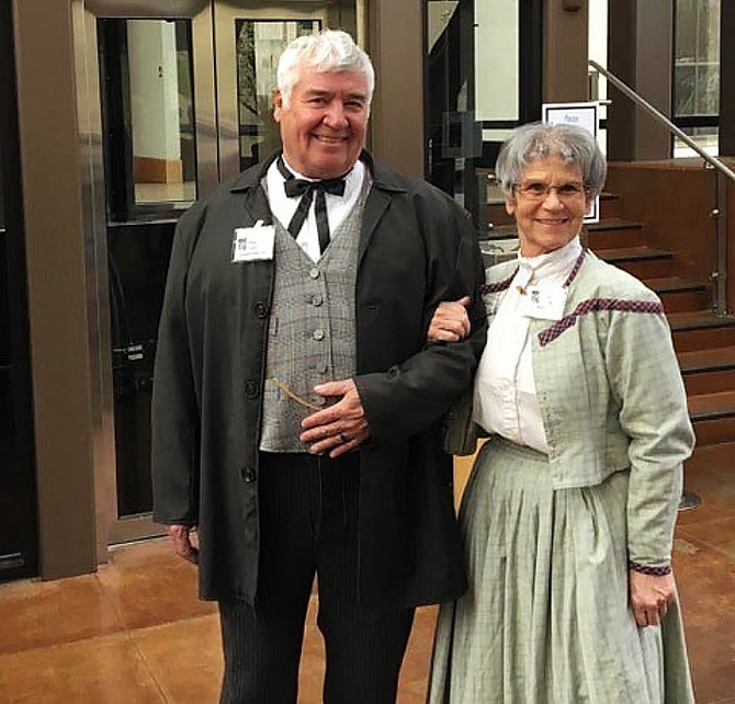 Reenactors Dave and Kathy Peirson will be portraying the characters of Abe Curry, founder of Carson City and the first director of the Carson City Mint, and his daughter, Elvira Curry Cowan, at a Mint150 event Saturday at the Nevada State Museum in Carson City. Photo courtesy of Nevada State Museum