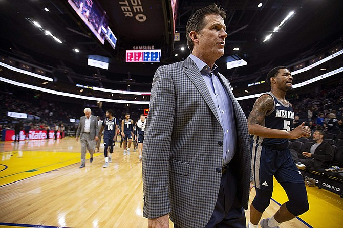 Nevada head coach Steve Alford walks off the court at halftime against Saint Mary's on  Dec. 21 in San Francisco.