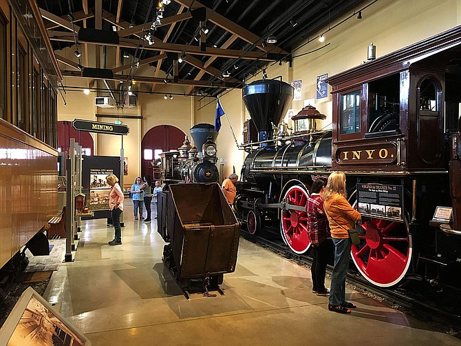 Visitors check out the Jacobsen Interpretive Center at the Nevada State Railroad Museum in Carson City. The museum has expanded its days of operation from five to six.