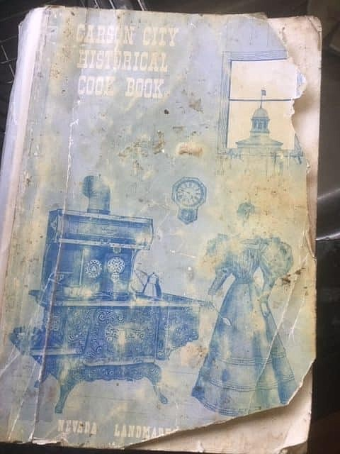 The cover of Carson City Historical Cook Book.