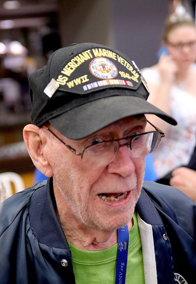 Charles Montanaro volunteered to serve in the U.S. Merchant Marine after the United States entered World War II.