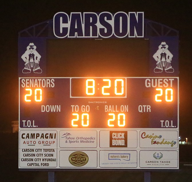 The Carson High football field, baseball field and scoreboard shine bright Saturday night as part of the nationwide #BeTheLight campaign. The campaign was designed to show support in honor of the class of 2020 seniors, faculty and as a way to bring a message of hope to communities across the country.