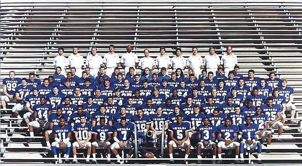 The 1990 Nevada football team photo.