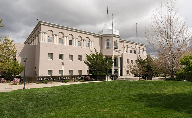 Entrance to the State Legislature of Nevada in Carson City