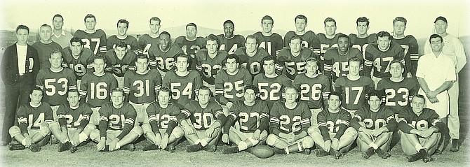 University of Nevada 1948 team photo with Alva Tabor (36) and Sherman Howard (45).