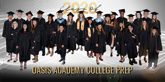 Twenty-nine seniors graduated from Oasis Academy College Prep in a virtual graduation last month.
