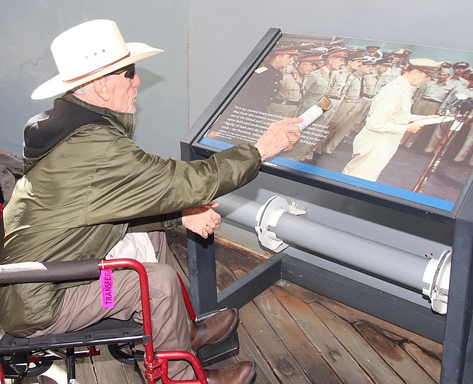 Ed Tremper of Dayton fought in Korea in 1950 with the U.S. Marines. During an Honor Flight Nevada trip to Hawaii earlier this year, he visited the USS Missouri where the official surrender between the United States and Japan was signed.