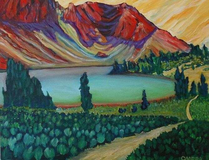 Candida Webb, Round Top Lake, Mokelumne Wilderness, oil on canvas, 2019