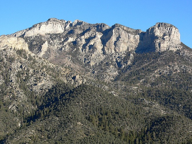 Image of Mummy Mountain, near Charleston Peak in Southern Nevada. Photo courtesy of Stan Shebs