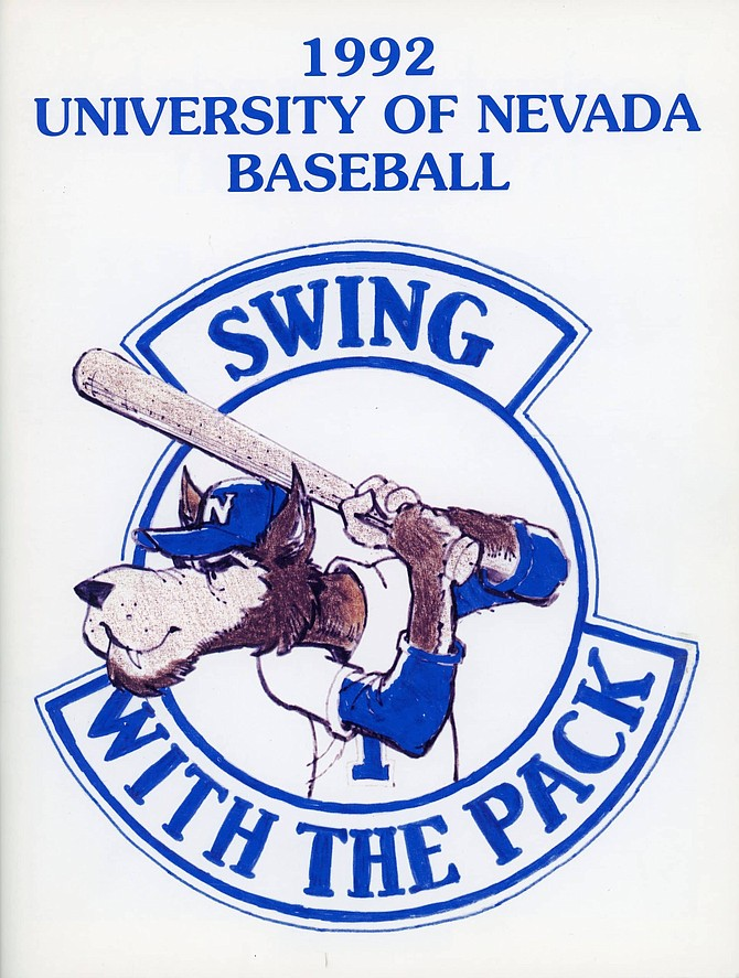 Nevada baseball cover for the 1992 season. The Wolf Pack finished the 1992 seasons with 43 wins and 11 losses.