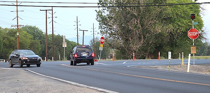 NDOT is transforming the Sheckler Road and U.S. Highway 95 intersection into a four-way stop this week.