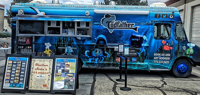 While some food trucks have hibernated since March, the Codfather, a Reno-based food truck owned by Carlo Schmitt, has continued to operate throughout the pandemic.