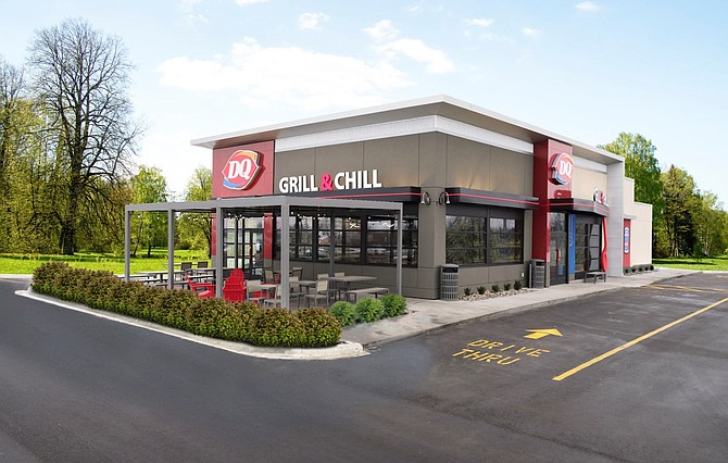 A rendering of a Dairy Queen Grill & Chill restaurant, the concept the fast-food company plans to significantly increase in the Reno-Carson market.