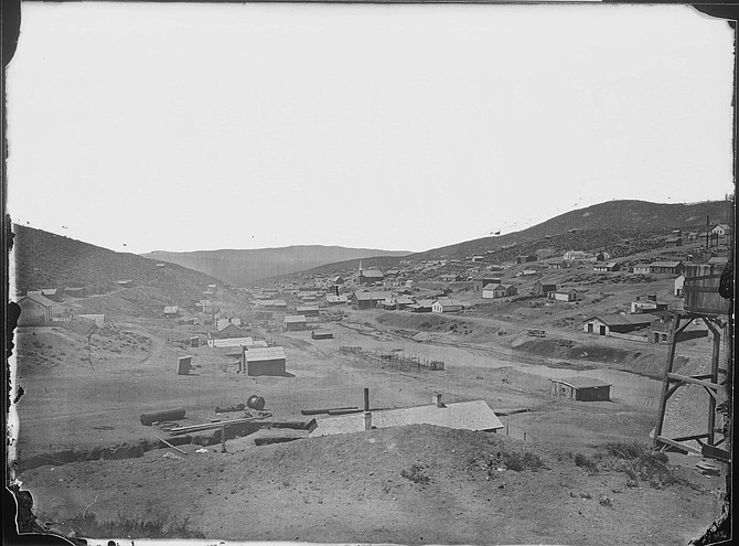 Image of the mining town of Austin as it appeared in 1868, about five years before Fred Hart began working at the Reese River Reveille newspaper.