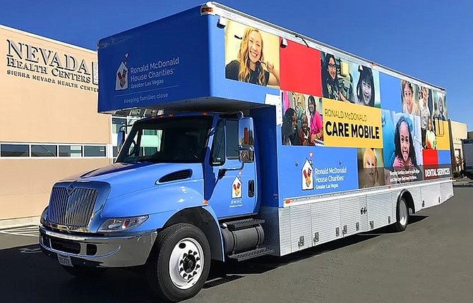 The Ronald McDonald Care Mobile will offer oral health care to children and pregnant women at three locations in Carson City next week.