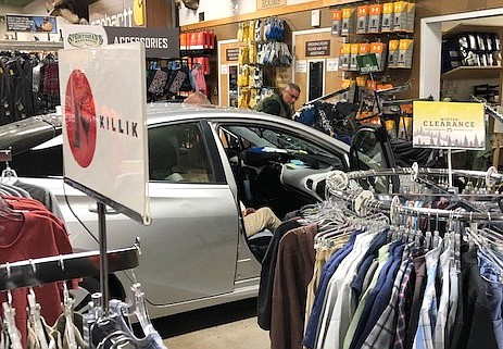 A car drove into the Sportsman's Warehouse in Carson City on Friday.